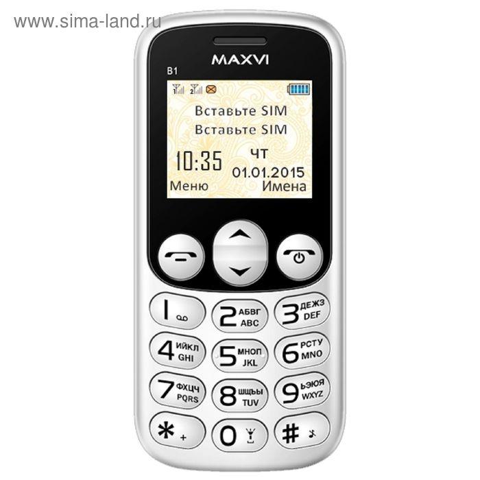 Сотовый телефон Maxvi B1 белый