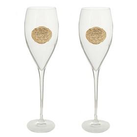 Набор из 2 бокалов для шампанского' Infinity rings', 320 мл Ош