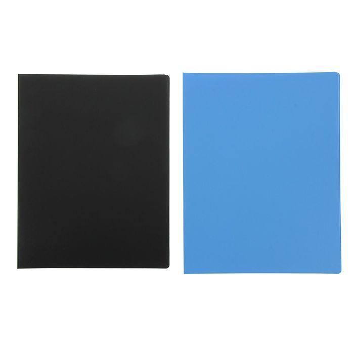 Папка на 2 кольцах А4 пластиковая, 20 мм, 1000 мкм Comix, внутренний карман, микс