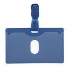 Бейдж пластиковый горизонтальный Comix 99×67 мм с пластиковым клипом