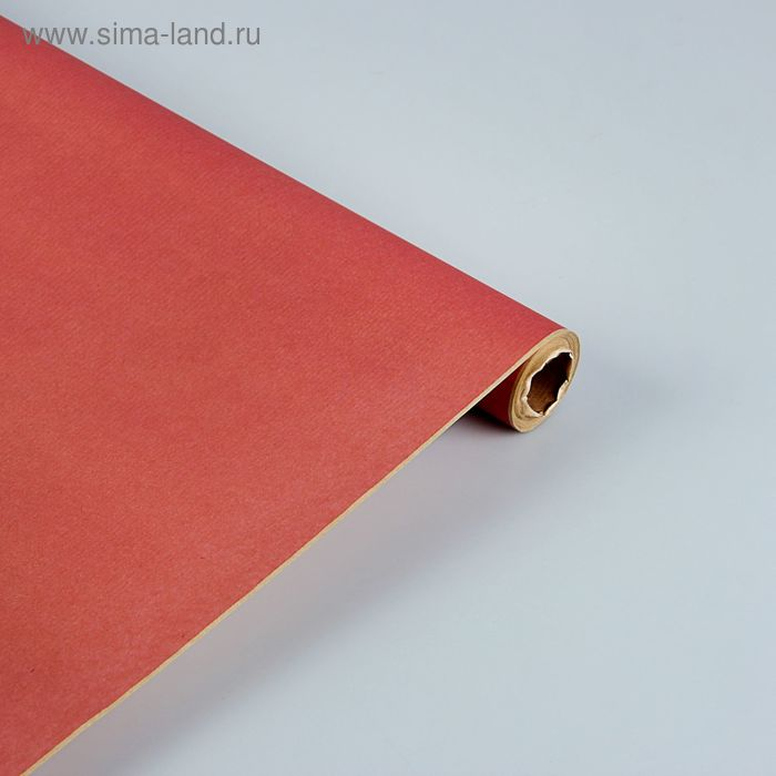 """Бумага упаковочная  крафт """"Розовый"""" ламинированная 0,7 x 10 м"""