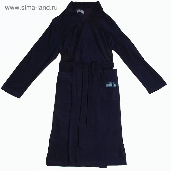 Халат мужской Р739053 цвет темно-синий, рост 170 см, р-р 52 (94)