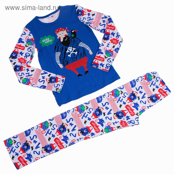 Пижама для мальчика, рост 134-140 см (34), цвет синий (арт. Р218494_Д)