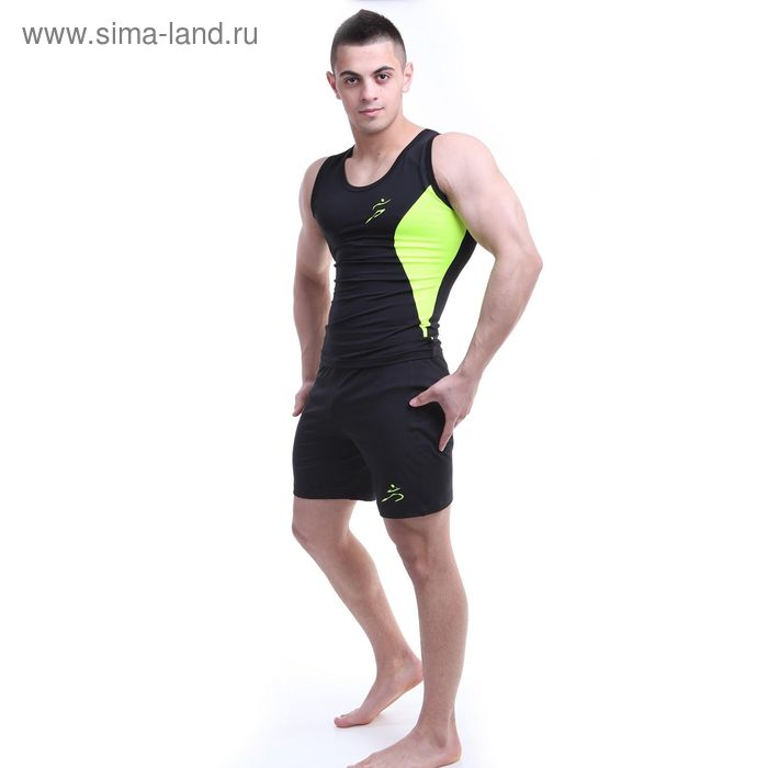 Шорты мужские Р579250 цвет черный, рост 170-176 см, р-р 48 (86)