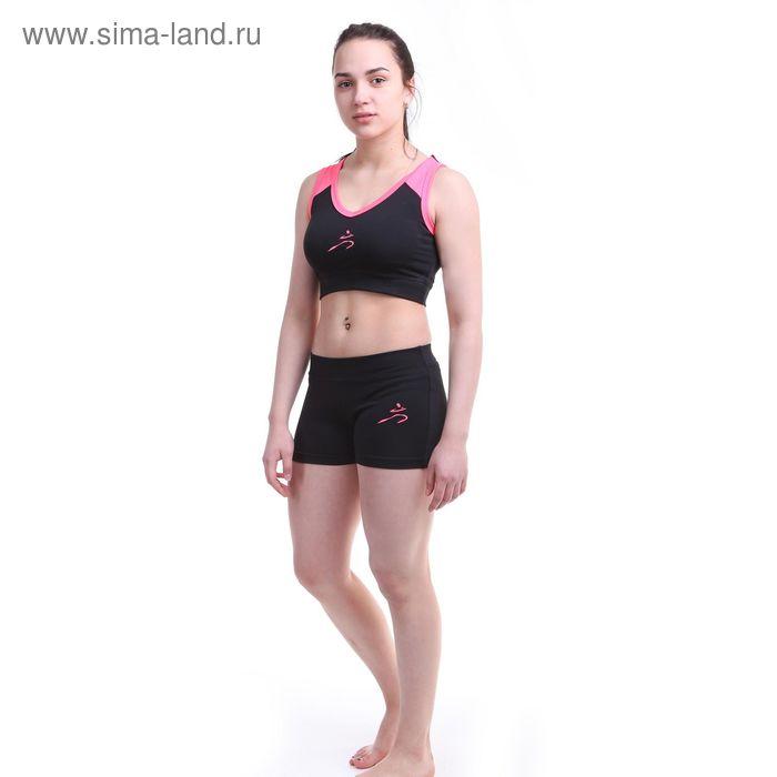 Шорты женские Р579253, цвет черный, рост 158-164 см, р-р 50 (106)