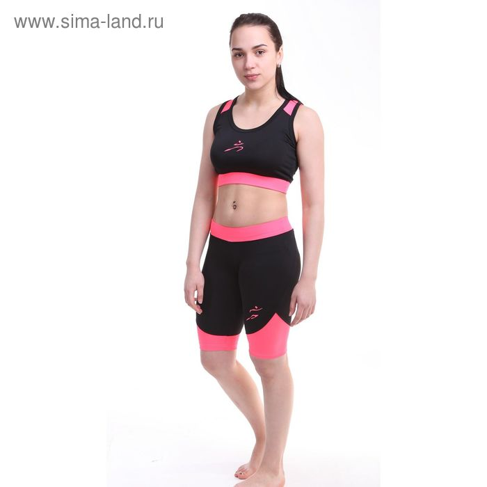 Шорты женские Р579257, цвет черный, рост 158-164 см, р-р 46 (98)
