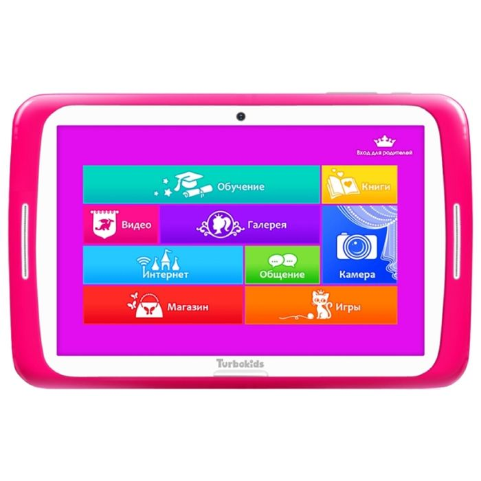 "Планшет TurboKids Princess 7""1024х600, 8Gb, WiFi, BT, 8Gb, microSD, Android, розовый"