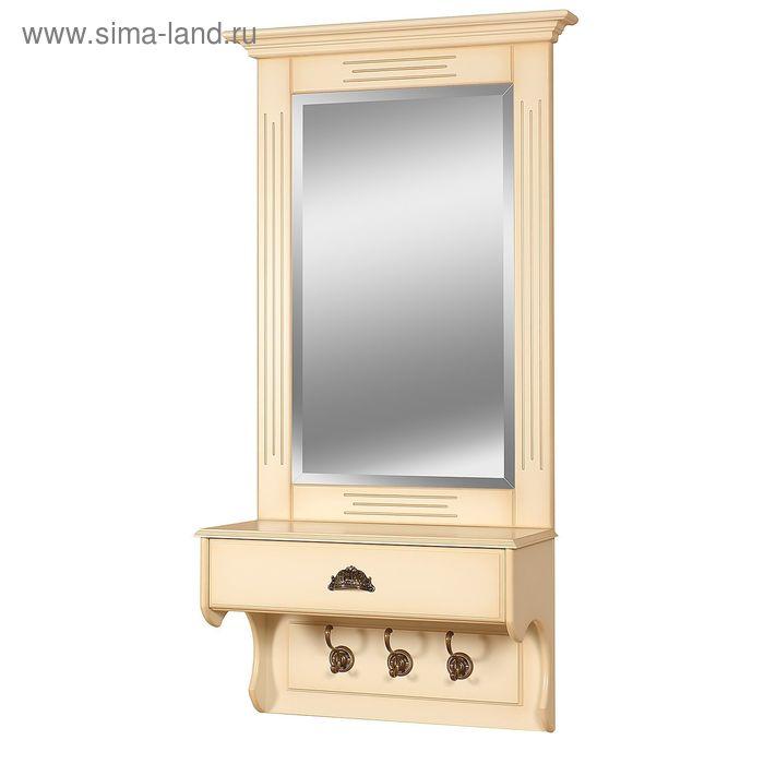"""Зеркало настенное с ящиком """"Валенсия, цвет """"Слоновая кость"""""""