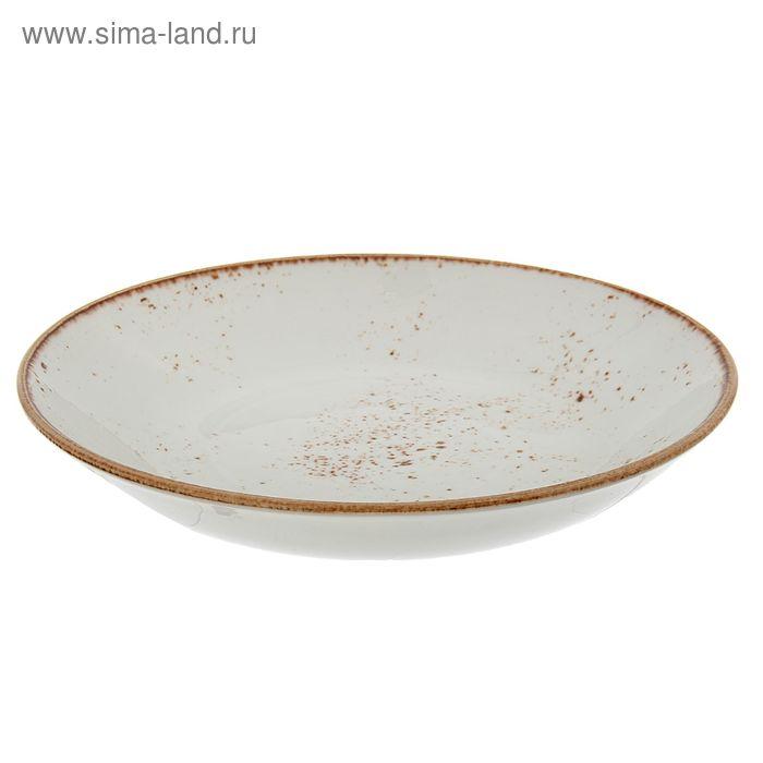 Салатник 650 мл d=21,5 см h=4 см «Крафт», цвет белый
