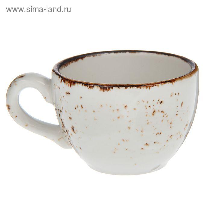 """Чашка кофейная 85 мл d=6,5 см h=5 см L=8,5 см """"Крафт"""", цвет белый"""