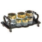 Мини-бар 6 предметов стаканы+стопки, кристалл 250/50 мл