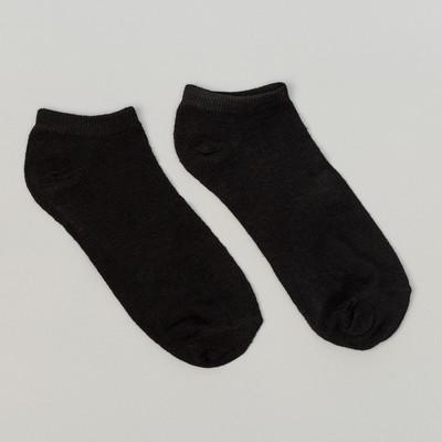 Носки женские укороченные цвет черный, р-р 23-25 (р-р обуви 36-40)