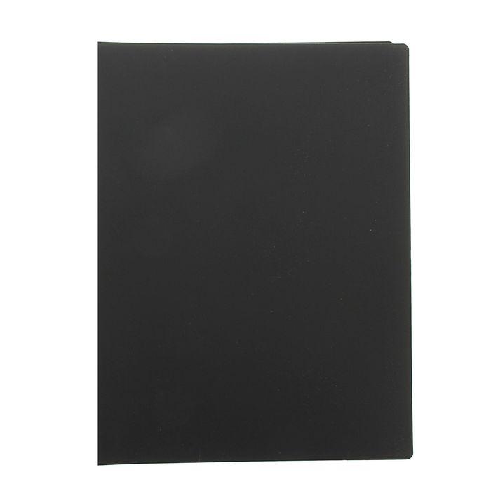 Папка с 20 прозрачными вкладышами А4, 450мкм EC FLEXI черная