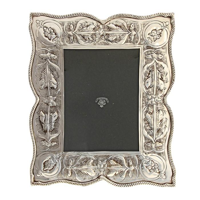 Silver leaf photo frame, 16x20.5 cm.