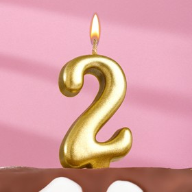"The candle for the cake figure is ""Oval"" Golden ""2"", large"