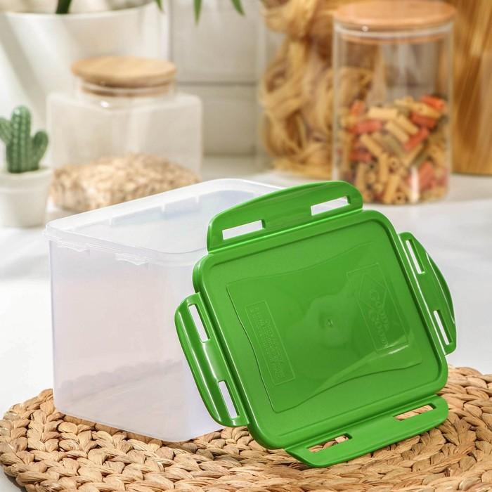 Контейнер пищевой 2,2 л с герметичной крышкой , цвет МИКС