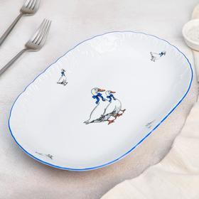 Блюдо овальное Cmielow «Рококо. Гуси», 29×20 см