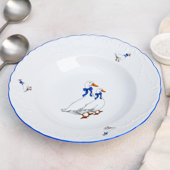 "Тарелка глубокая 250 мл ""Рококо Гуси"", 22,5 см"
