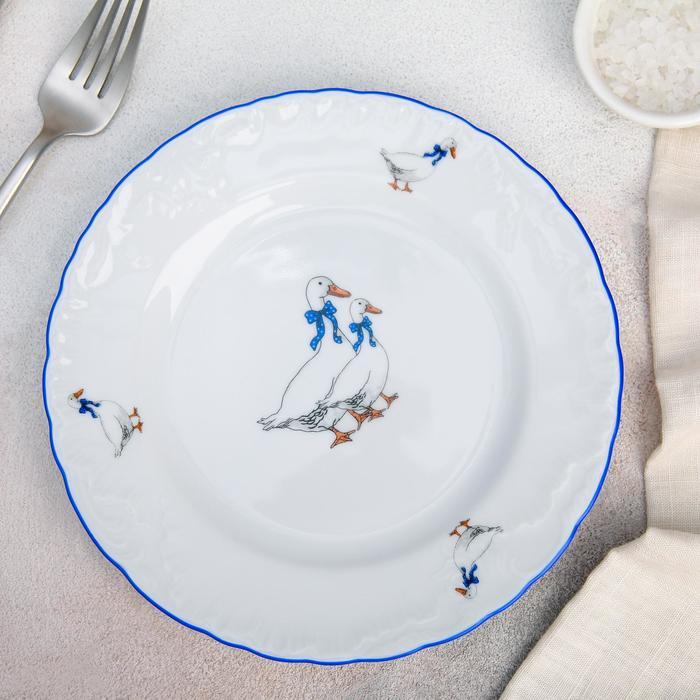 Тарелка десертная «Рококо. Гуси», d=19 см - фото 649579