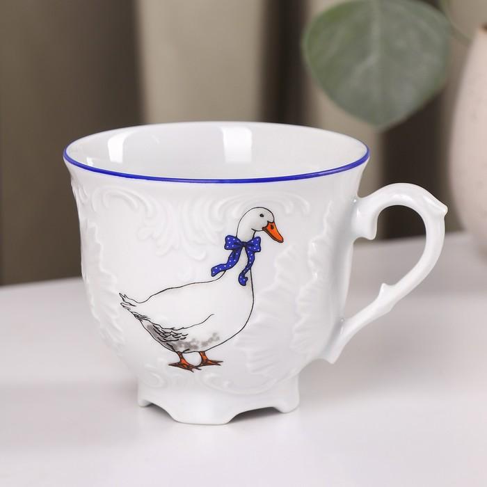 """Чашка чайная 250 мл """"Рококо. Гуси"""", d=8 см"""