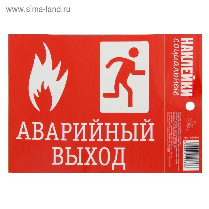 """Социальные наклейки """"Аварийный выход"""", 11х15,7 см"""