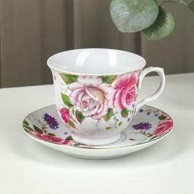 Чайная пара «Томная роза», чашка 230 мл, блюдце