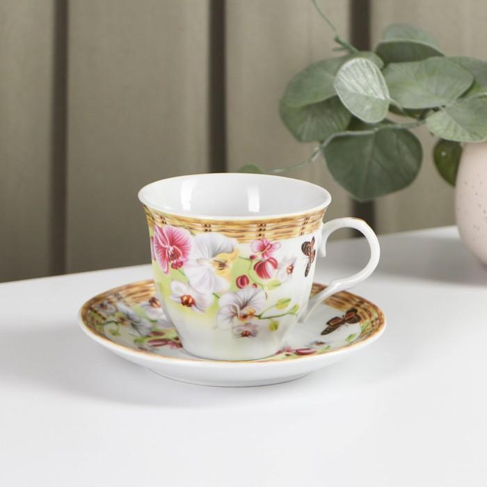 """Чайная пара 250 мл """"Садовый дворик"""""""