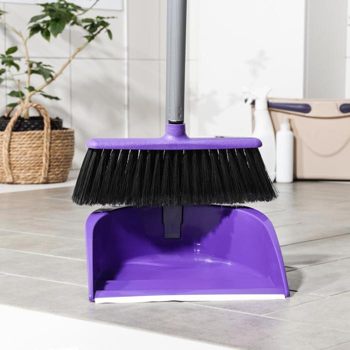 Набор для уборки помещений, складной IDEA «Ленивка. Люкс», цвет фиолетовый