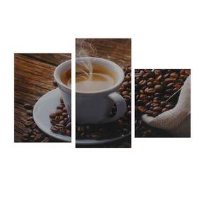 """Картина модульная на подрамнике  """"Утренний кофе""""  29х35см,29х45см,29х55см;  90*56см"""