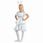 """Карнавальный костюм """"Снежинка белая"""", платье, ободок, р-р 60, рост 116 см"""