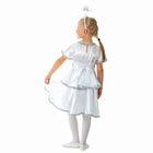 """Карнавальный костюм """"Снежинка белая"""", платье, ободок, р-р 64, рост 128 см - фото 105520085"""