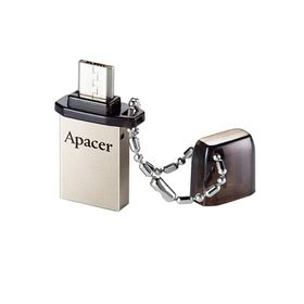 Флешка USB Apacer 16GB AH175 OTG, разъемы USB/microUSB, черная
