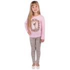"""Джемпер для девочки """"Забавные котята"""", рост 86 см (48), цвет розовый (арт. ДДД954067_М)"""
