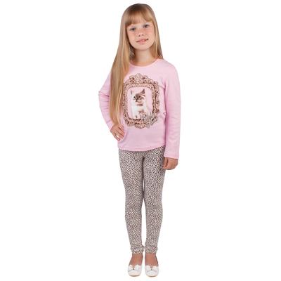 """Джемпер для девочки """"Забавные котята"""", рост 92 см (50), цвет розовый (арт. ДДД954067_М)"""