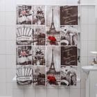 """Штора для ванной 180х180 см """"Париж ретро"""", EVA"""