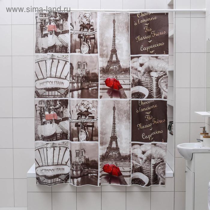 """Blind for the bathroom 180х180 cm """"Paris retro"""" EVA"""