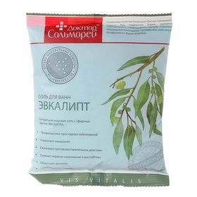 """Соль для ванн """"Доктор Сольморей"""" с экстрактом эвкалипта, 0,5 кг"""