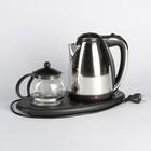 Чайник электрический Irit IR-1502, металл, 1.8 л, 1500 Вт, заварник 0.8 л, серебристый - фото 871847
