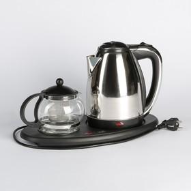 Набор чайный Irit IR-1502,1500 Вт, 1.8 л, металл, заварочный чайник 0.8 л, серебристый