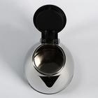 Чайник электрический Irit IR-1502, металл, 1.8 л, 1500 Вт, заварник 0.8 л, серебристый - фото 871848