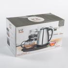 Чайник электрический Irit IR-1502, металл, 1.8 л, 1500 Вт, заварник 0.8 л, серебристый - фото 871851