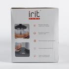 Чайник электрический Irit IR-1502, металл, 1.8 л, 1500 Вт, заварник 0.8 л, серебристый - фото 871852
