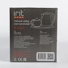 Чайник электрический Irit IR-1502, металл, 1.8 л, 1500 Вт, заварник 0.8 л, серебристый - фото 871853