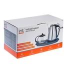 Чайник электрический Irit IR-1502, металл, 1.8 л, 1500 Вт, заварник 0.8 л, серебристый - фото 871854