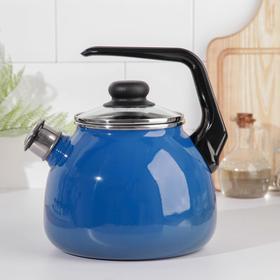 """Чайник со свистком 3 л """"Ocean"""", фиксированная ручка, цвет ярко-синий"""
