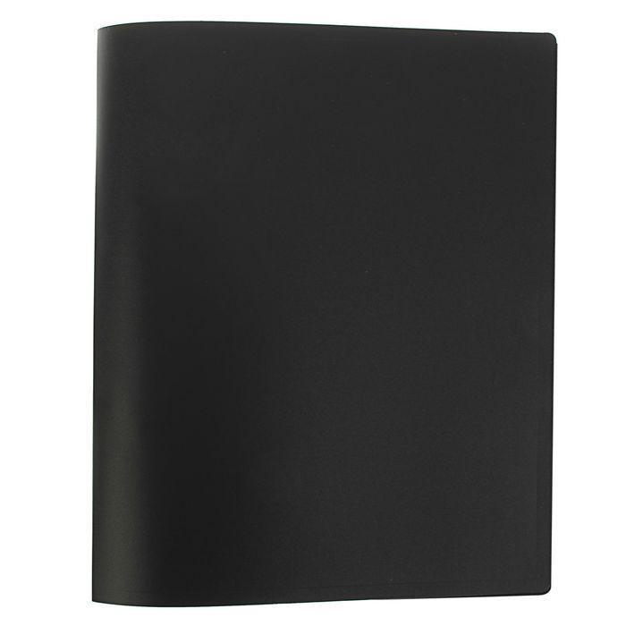Папка на 2 кольцах А4 пластиковая, 18мм Economy 400мкм, чёрная