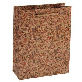 """Package Kraft """"Flower pattern"""", 31 x 10 x 42 cm"""