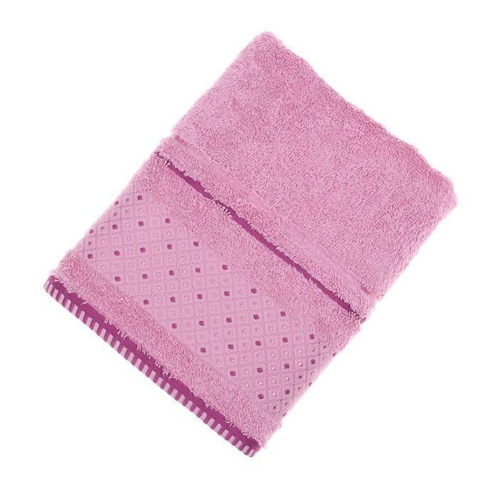 Полотенце махровое Fiesta Salieri 50х90см розовый 500гр/м, бамбук