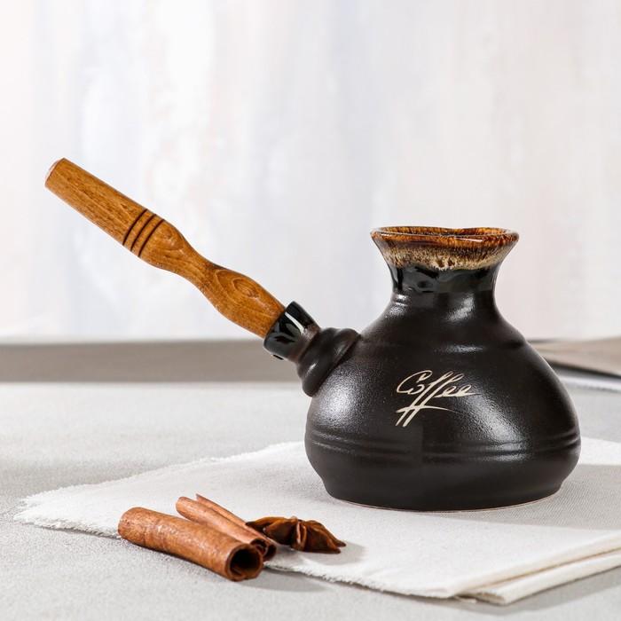 """Турка для кофе """"Средняя"""", керамика, 0.4 л"""