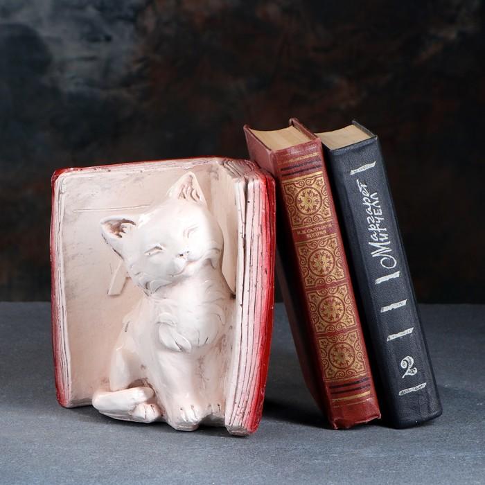 """Подставка для книг """"Котята - А"""", состаренный бордо 20см"""